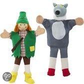 Imaginarium Handpoppen van stof en hout - Wolf en jager