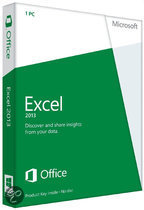 Microsoft Excel 2013 - Engels / 32-bit/64-bit / 1 Licentie / Medialess