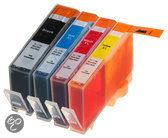 Compatible HP-364 XL met Chip, 4 pak. 1 Zwart, 1 Cyaan, 1 Magenta, 1 Geel.