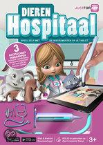 Dieren Hospitaal met Stethoscoop, Spuit en Pincet