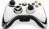 Microsoft Xbox 360 Draadloze Controller Chroom Zilver - Limited Edition