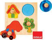 Goula Houten Knopjes - Puzzel - 4 Stukjes