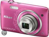 Nikon Coolpix S3500 - Roze - Design