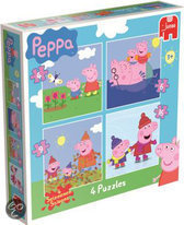 Pegga Pig 4 In 1 Puzzel