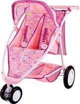 Baby Born Luxe Tweeling Buggy - Poppenwagen