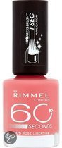 Rimmel 60 Seconds Finish - 405 Rose Libertine - Roze - Nagellak