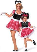 Carnavalskleding Minnie mouse meisje modern muis Maat 152