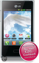LG Optimus L3 (E400) - Zwart - KPN prepaid telefoon