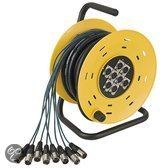 DAP Audio DAP Python 8 Stagewheel 8x XLR, 16 meter Home entertainment - Accessoires