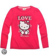 Hello Kitty Meisjesshirt - Donkerroze - Maat 104