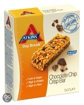Atkins Day Break Crisp Reep met chocoladechips - 5x 37 gram- Reep