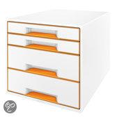 Ladenbox 4 Laden Leitz Wow Wit/Oranje