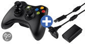 Microsoft Wireless Xbox 360 Controller + Play & Charge Kit - Zwart