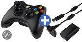Foto van Microsoft Draadloze Controller + Play & Charge Kit Zwart Xbox 360