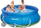 Bestway Fast Set Opblaasbaar Zwembad - 305x76 cm - inclusief 12V Filterpomp