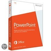 Microsoft PowerPoint 2013 - 32-bit/x64 / Nederlands / 1 Licentie / Medialess