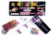 Loom Bands Starters Kit inclusief 600 Bandjes + Bedels