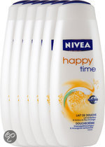 NIVEA Happy Time - 500 ml - Douchegel - 6 st - Voordeelverpakking