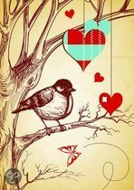Large Elastic Journal - Valentine's Bird