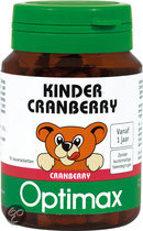 Optimax Kinder Cranberry 60 kauwbeertjes