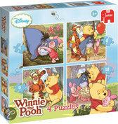 Winnie the Poeh 4-in-1 Puzzel