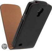 Faux leder flip cover Samsung Galaxy S4 - Flip hoesje case kleur zwart - Merk Westerhuis & van Andel huismerk