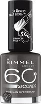 Rimmel 60 Seconds Finish - 803 Dark Grey - Grijs - Nagellak