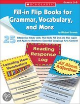 Fill-In Flip Books for Grammar, Vocabulary, and More