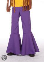 Carnavalskleding Hippie broek bi-stretch paars kind Maat 152