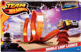 Hot Wheels Team Double Loop Track