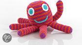 Pebble rammelaar - Octopus  - roze
