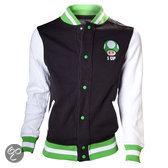Nintendo - 1 Up Jacket - L (Zwart / Wit/ Groen)