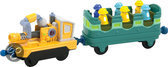 Chuggington Die-cast Trein Trainings Wagonnen met Bladblazer Wagon
