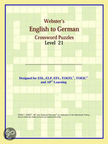 Webster's English To German Crossword Puzzles: Level 21