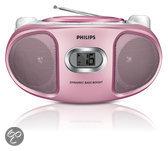 Philips AZ105C/12 - Radio/cd-speler - Roze