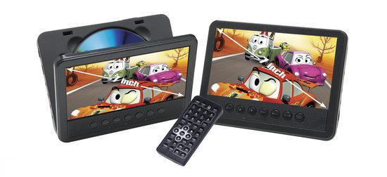 Denver DB1700 - Portable DVD-speler met 2 schermen - 7 inch - Zwart
