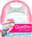 Wilkinson Sword Quattro for Women Sensitive - 3 stuks - Scheermesjes
