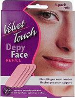Velvet Touch Face Navulverpakking - 4 stuks - Ontharingsstrips