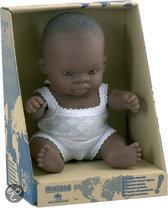 Miniland Babypop Afrikaans Meisje - 21 cm
