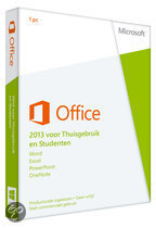 Microsoft Office Home and Student 2013 - Engels / 32-bit/64-bit / 1 Licentie / Eurozone Medialess