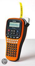 PT-E100VP 3.5/6/9/12mm TZ(E)-tape 2 regels printen ABC en numeriek toetsenbord incl. koffer adapter en 12 mm zwart op gele extra klevende gelamineerde tapecaset