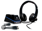 Foto van 4Gamers Stereo Gaming Headset + 2 USB Oplaadkabels + Design Controller Standaard PS4