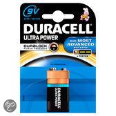 Duracell Ultra Power 9V Alkaline Batterijen 1 Pak