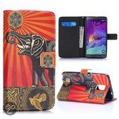 Samsung Note 4 Olifant Flip cover, hoesje, case