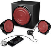 Speedlink Methron 2.1 Gaming Subwoofer Speakerset – Zwart/Rood (Xbox 360 + PS3 + PC)