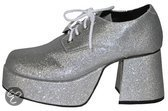 Zilveren glitter plateau schoenen 44-45