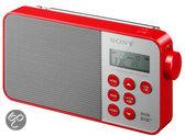 Sony XDR-S40 - DAB+ radio - Rood
