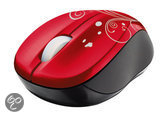 Wireless mini muis Vivy. Rood