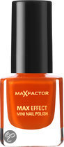 Max Factor Max Effect - 25 Bright Orange - Oranje - Mini Nail Polish