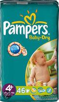 Pampers Baby Dry - Luiers Maat 4+ - Voordeelpak 46st